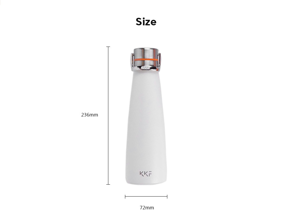 Xiaomi YOUPIN 475ml Stainless Steel Vacuum Insulated Water Bottle Keep Hot for 12hrs - Slate Gray