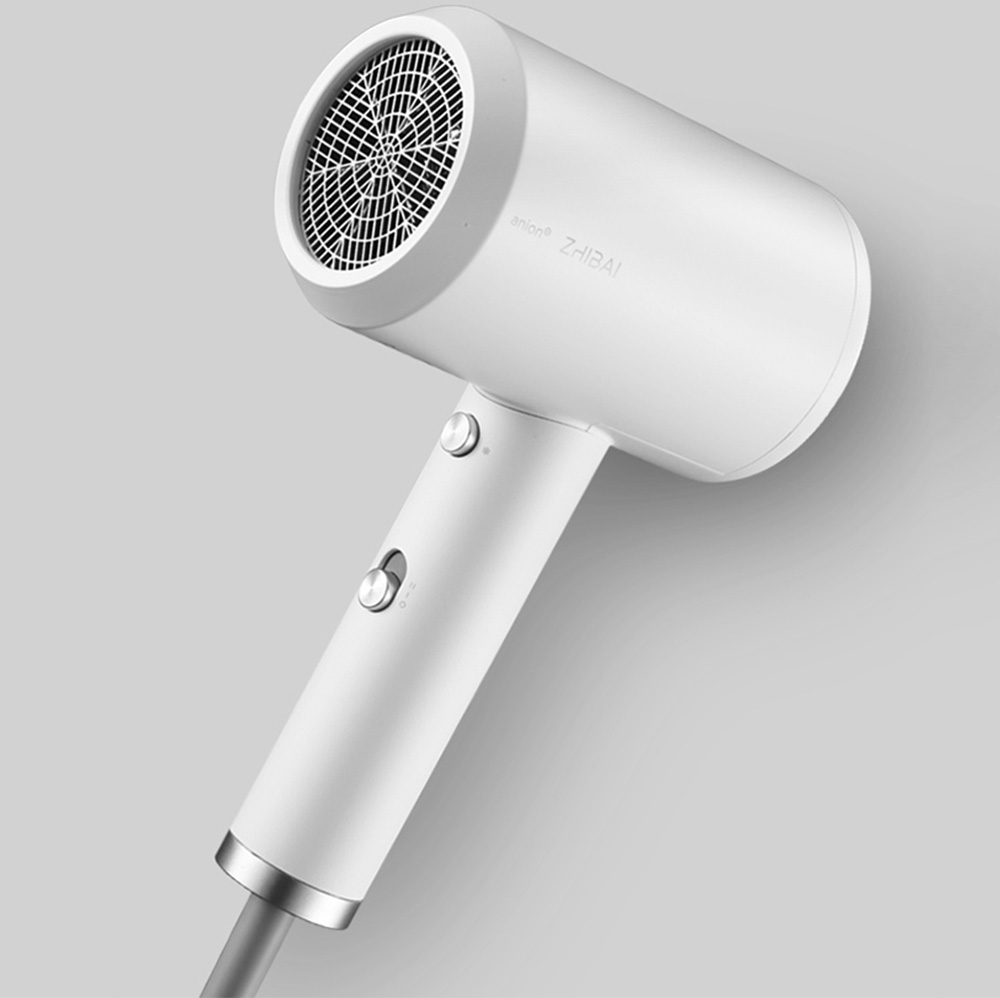 ZHIBAI HL3 Household High-power Portable Negative Ion Hair Dryer From Xiaomi Youpin- White Chinese Plug (2-pin)