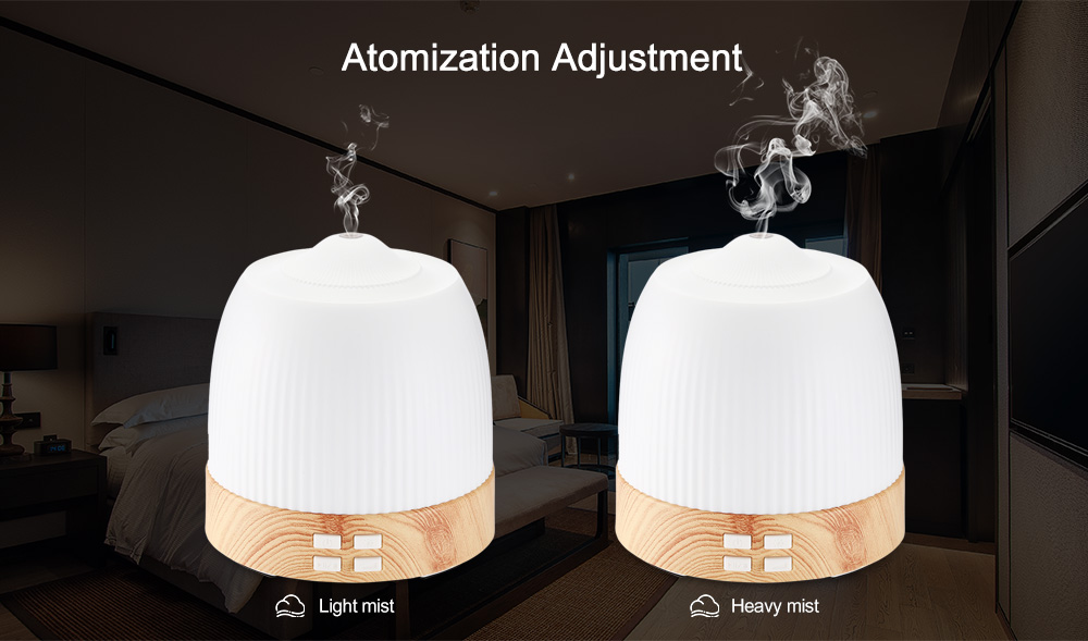 NBO - XAO2 120ml Diffusore di oli essenziali per aromaterapia Umidificatore ad ultrasuoni- Bianca Spina US (2 pin)