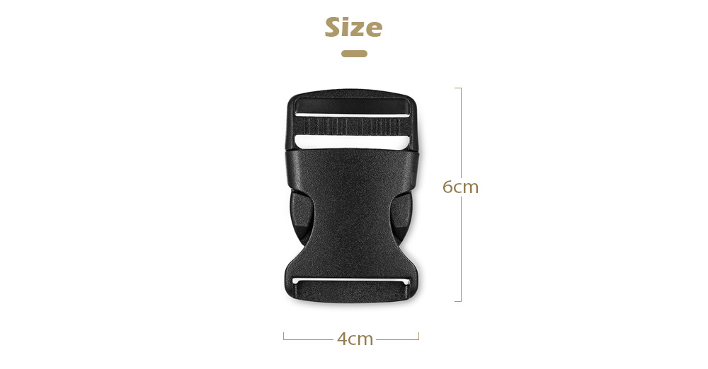 2PCS Baby Chair Buckle for Wide Range Usage- Black