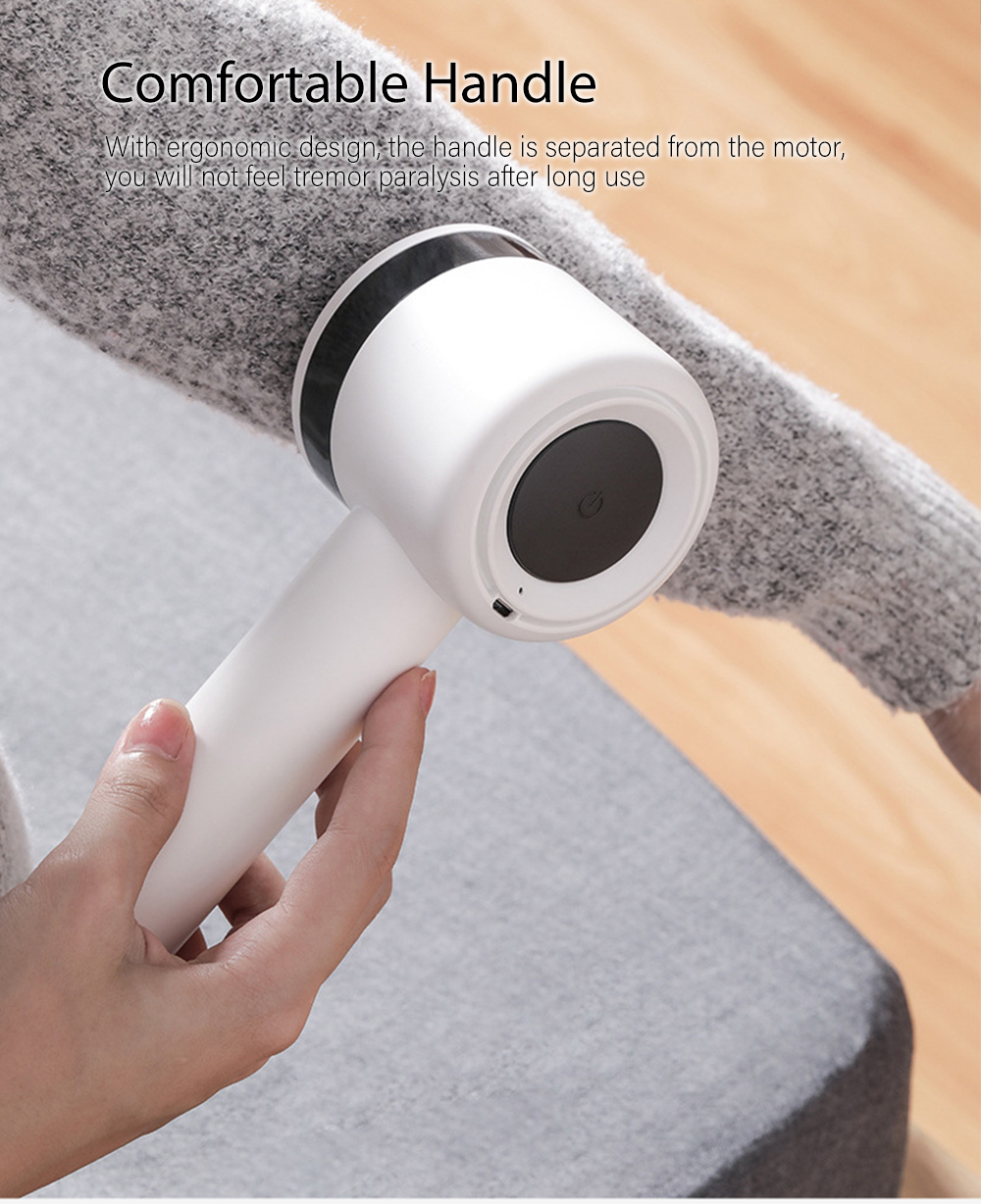 Deerma Electric Lint Remover Portable Hair Ball Trimmer- White