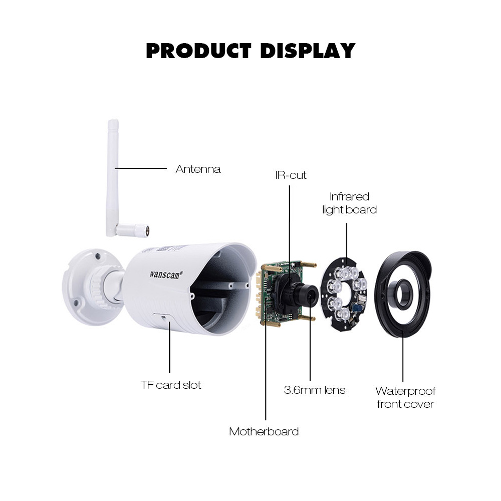 Video Surveillance Have An Inquiring Mind 1080p Hd Network Camera Two-way Audio Wireless Network Camera Night Vision Motion Detection Camera Robot Pet Baby Monitor Perfect In Workmanship