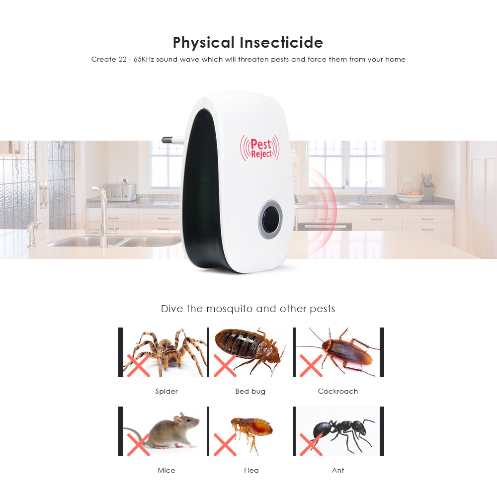 Sincere Ultrasonic Pest Repeller Electronic Mouse Bug Repellent Mosquito Pest Rejector Killer Pest Control Device Anti Insects Access Control Kits