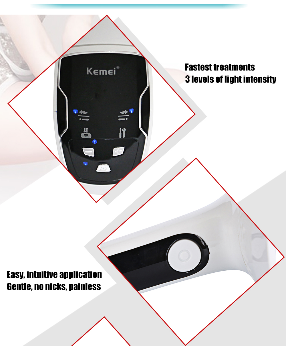 Kemei KM - 6812 Photon Permanent Hair Removal Device