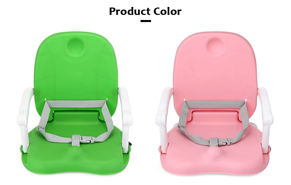 Aricare ACE1013 Baby Booster Seat High Chair Foldable Detachable Tray- Pink
