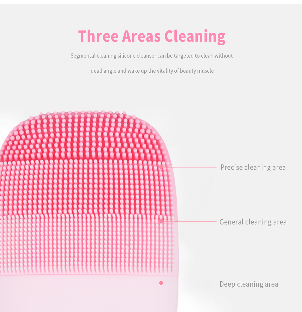 inFace Sonic Vibration Face Cleaner Facial Cleansing Brush- Pink