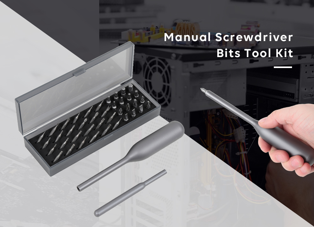 Wowstick Manual Screwdriver Bits Tool Kit for Repairing Phone Toy Laptop- Silver