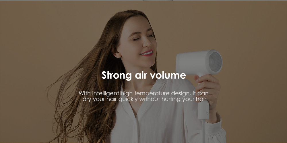 Mijia CMJ0LX Water Ion 1800W Electric Hair Dryer - White Chinese Plug (2-pin)