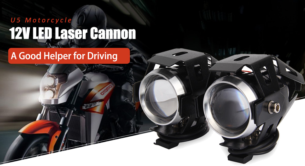 U5 Motorcycle 12V LED Laser Cannon 2PCS Sale, Price & Reviews | Gearbest