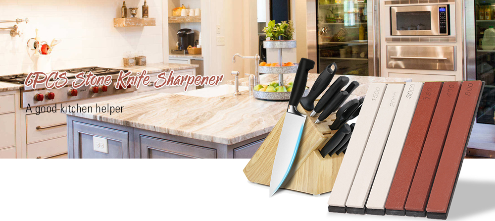 6PCS Portable Sharpening Stone for Kitchen Use- Multi-A