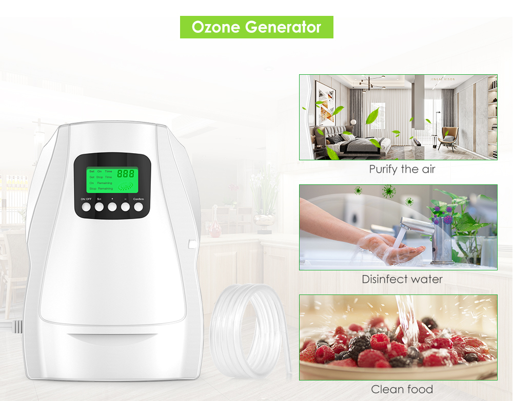 N202C Ozone Generator Water Fruit Vegetable Air Portable Sterilizer  Purifier Bacteria Mould Removal Home