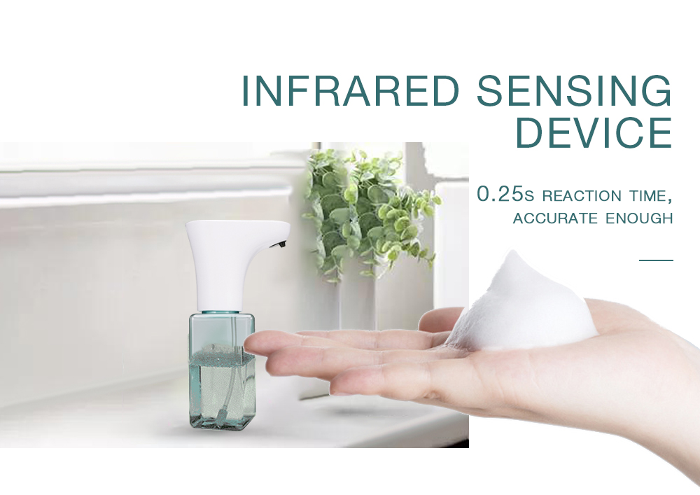 Infrared Sensing Automatic Soap Dispenser- Pale Blue Lily 450ML
