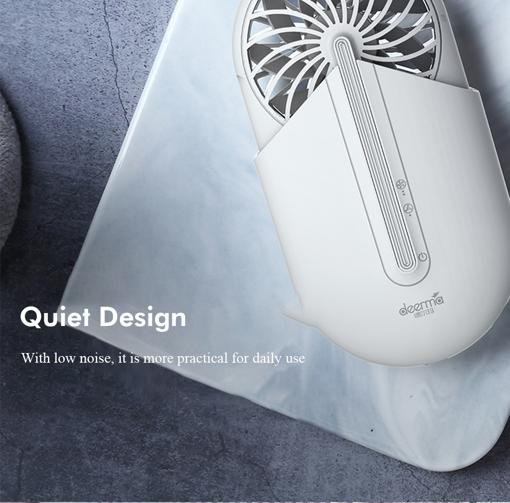 Deerma Portable Handheld Fan with Aromatherapy- White