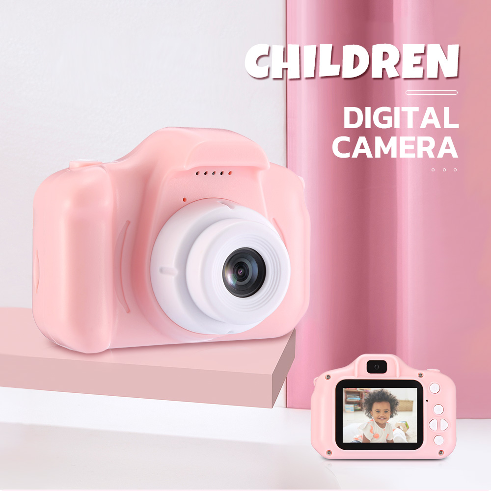 Full HD Children Digital Camera Creative Camcorder with 4 Photo Frames for Boys and Girls- Day Sky Blue