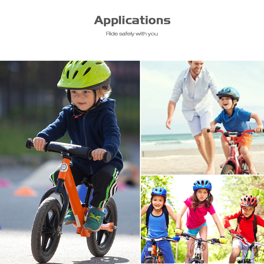 Leadbike Children Bicycle Flower Drum Light Balance Car with USB Cable- White
