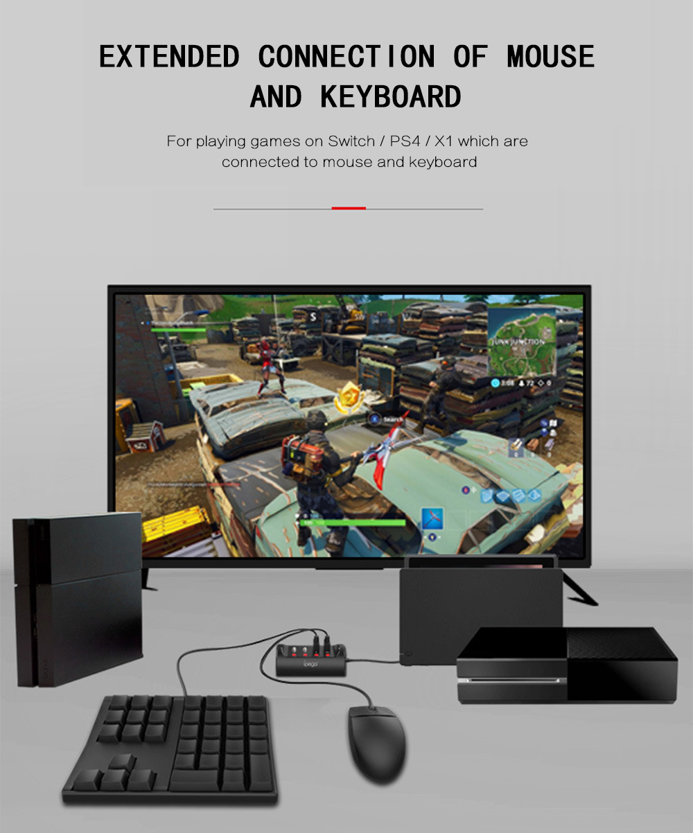 iPEGA PG - 9133 Mouse Keyboard Converter for Switch / PS4 / X1