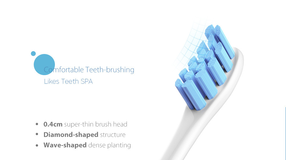 Oclean P1S4 Replacement Brush Head for Z1 / X / SE / Air / One Electric Sonic Toothbrush 2pcs- Light Aquamarine