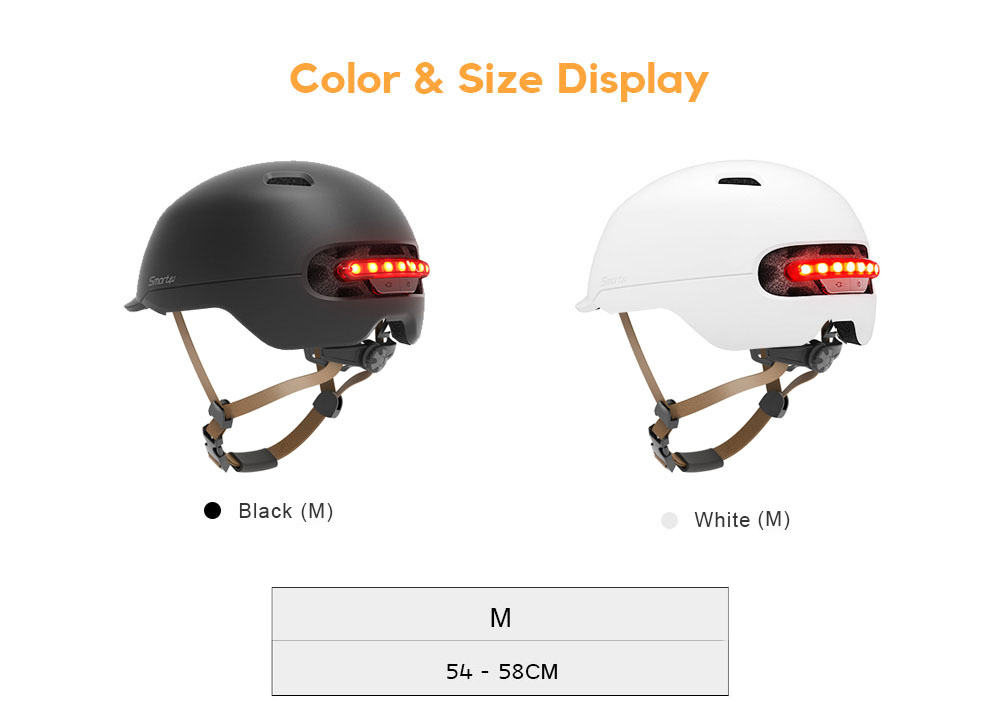 Smart4u SH50 Waterproof Smart Flash Bike Helmet Matte Color Backlight Mountain Protector Scooter