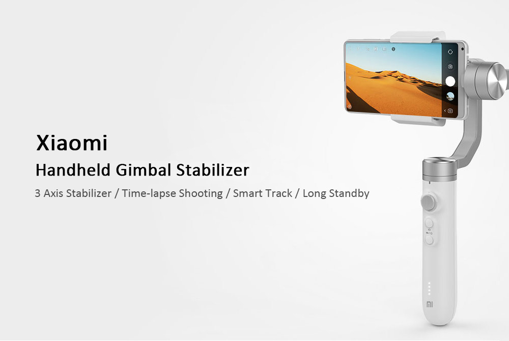 Xiaomi SJYT01FM 3 Axis Gimbal Handheld Stabilizer International Version for Action Camera Cellphone- White
