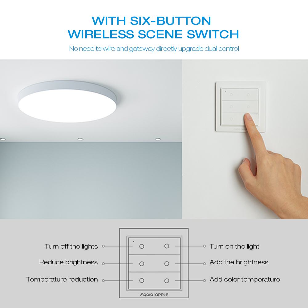 Aqara MX650 Ceiling Light with Four Classic Lighting Modes for Xiaomi Ecosystem Product