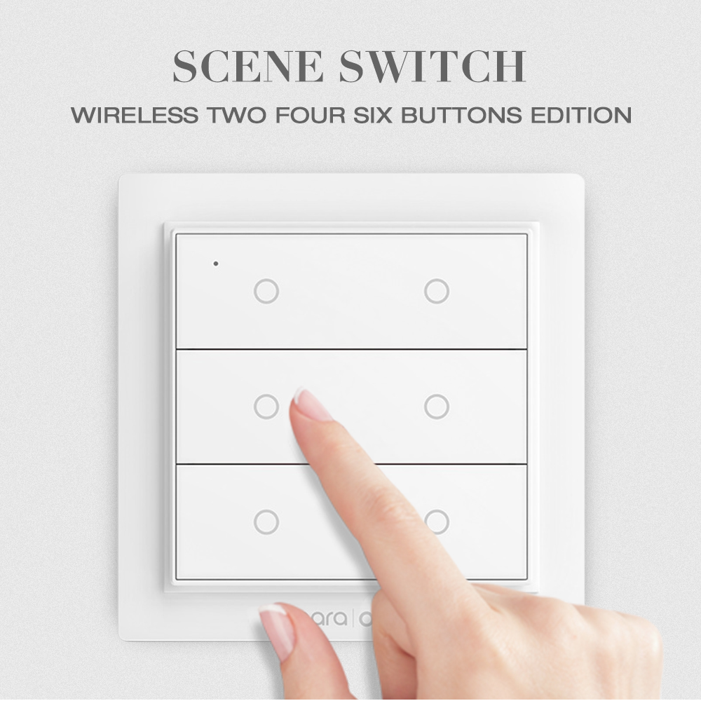 Aqara Opple Scena Wireless Switch Two Four sei pulsanti Edition- Bianca