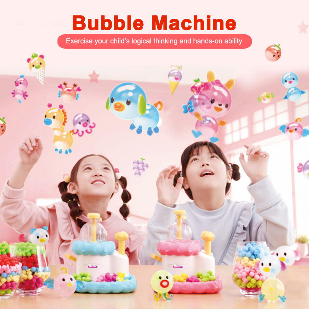 Baoli Bubble Machine Blowing Waves Sticky Confezione- Rosa Chiaro