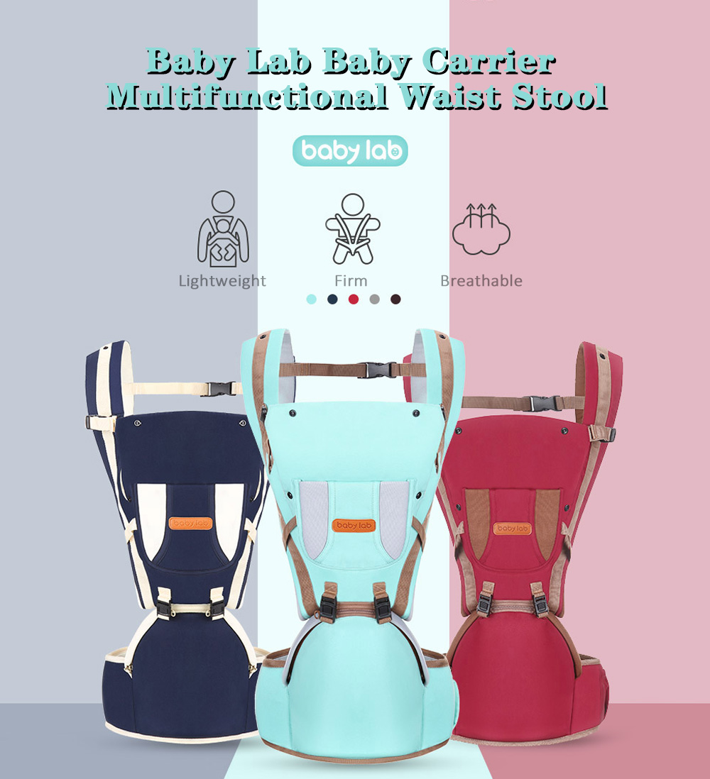 Baby Lab Carrier Multifunctional Waist Stool with Windshield Cap- Deep Blue