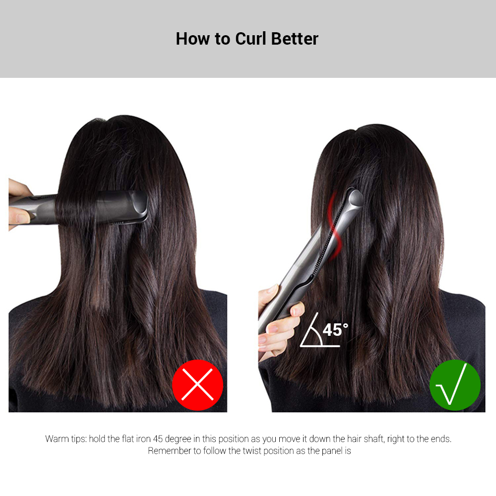 Gustala 2-in-1 Unique Twisted Plates for Easy Curing and Straightening