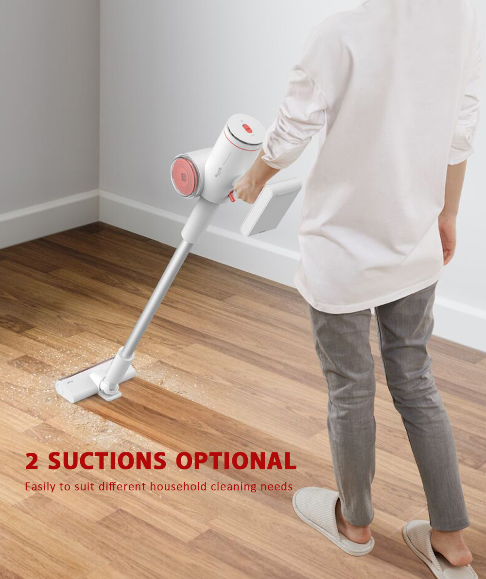 Deerma VC25 Wireless Vacuum Cleaner 35min Endurance 0.7L Dustbin 2 Suction Forces
