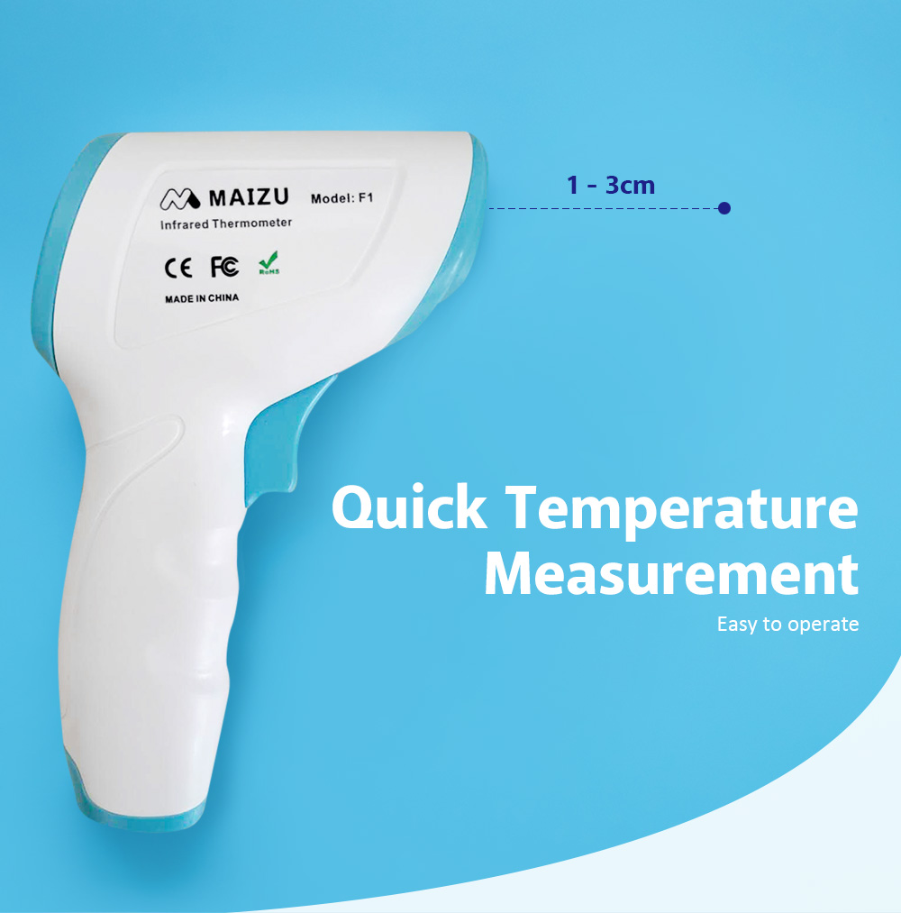 F1 Non-contact Infrared Forehead Thermometer Quick Response