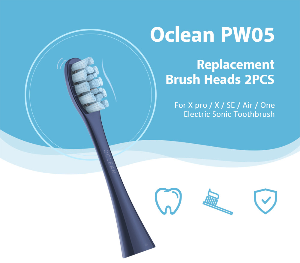 Oclean PW05 2PCS Replacement Brush Heads for X pro / X / SE / Air / One Electric Sonic Toothbrush