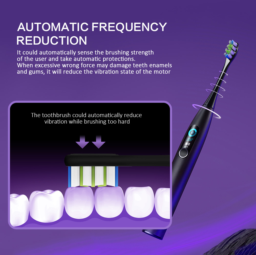 OCLEAN X Pro Smart Sonic Electric Toothbrush Color Touch Screen Blind Spot Detection App Track