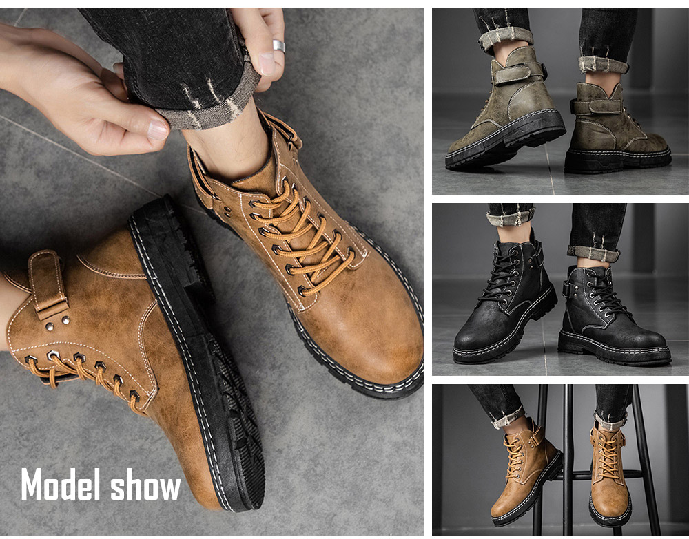 Men's Casual Boots model show