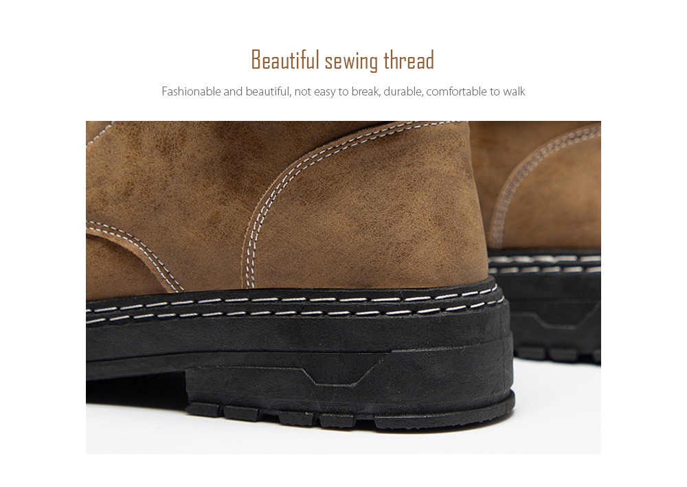 Men's Casual Boots Beautiful sewing thread