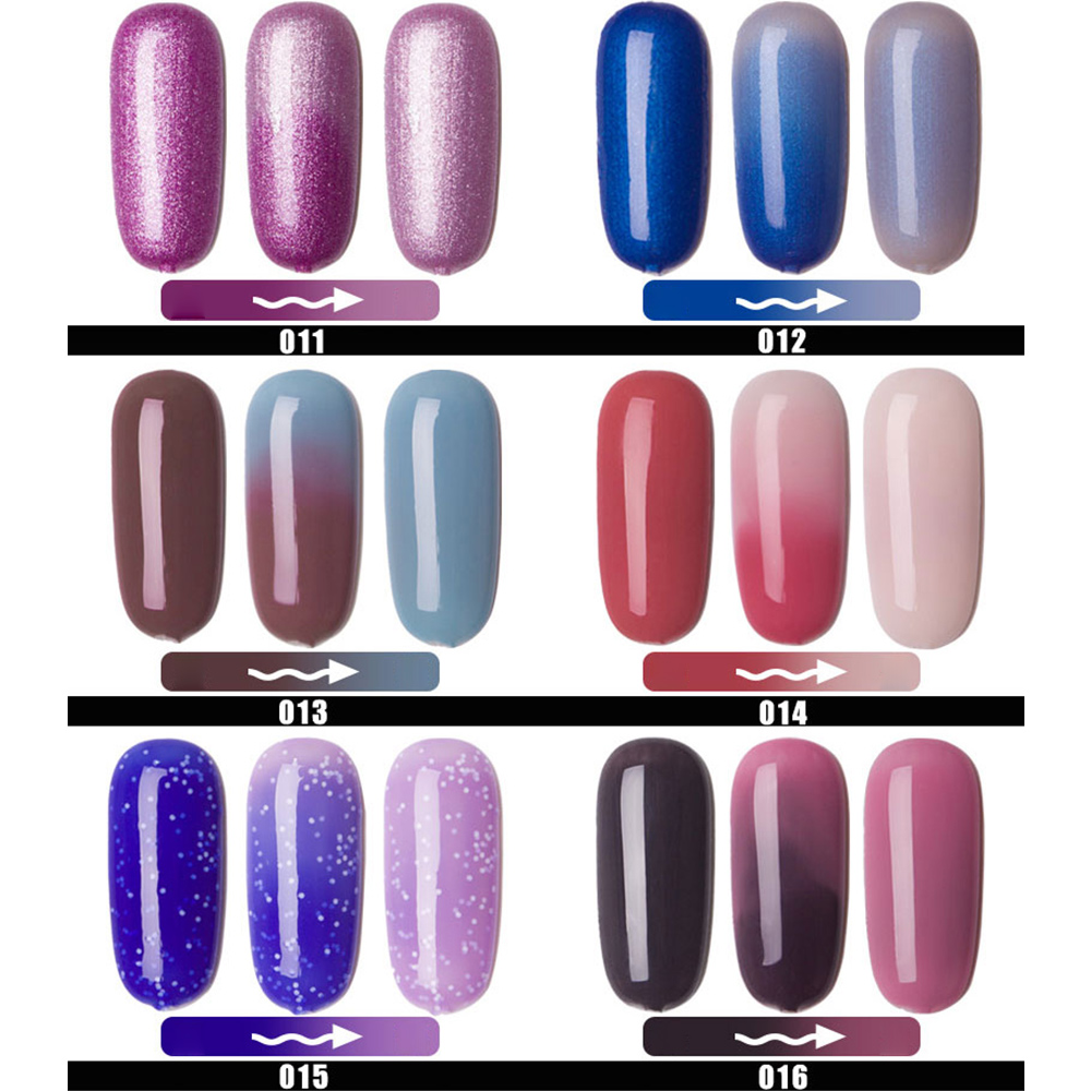 22 Choice Temperature Color Changing Gels Nail Polish 10ML Manicure ...