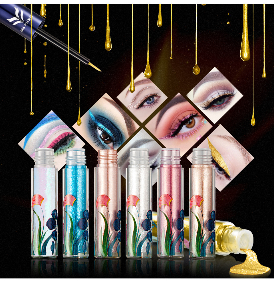 Waterproof Glitter Shimmer Liquid Eyeliner  with 7 Colors