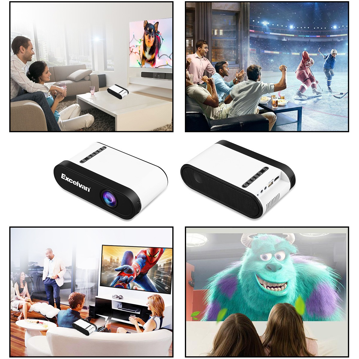 Excelvan P7 Mini Portable Multimedia Led Projector With Hdmi Usb Av Home Theater Wiring Diagram Furthermore Tf Interfaces Support 1080p For