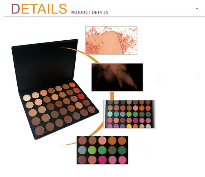 35 color nature glow eyeshadow Make up Waterproof palette-Neutrals Warm Smooth Eye Shadows