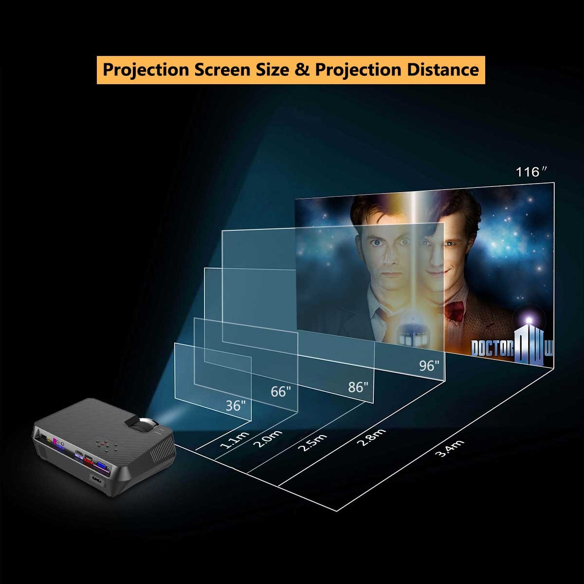Exquizon GT-S9(GT-S9A)800*480 Portable Multimedia LCD Projector ...