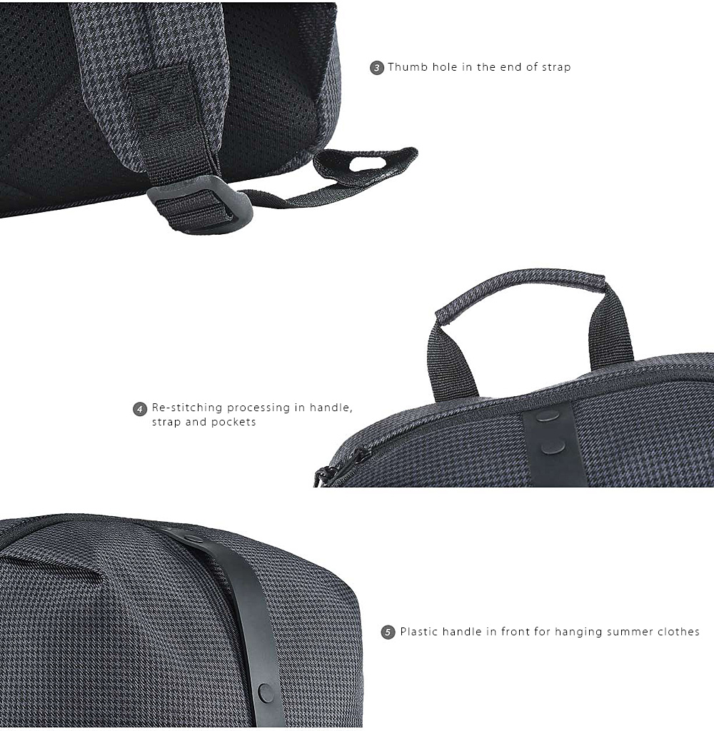 Xiaomi College Leisure Backpack fashion trend simple classic business backpack- Black One Size
