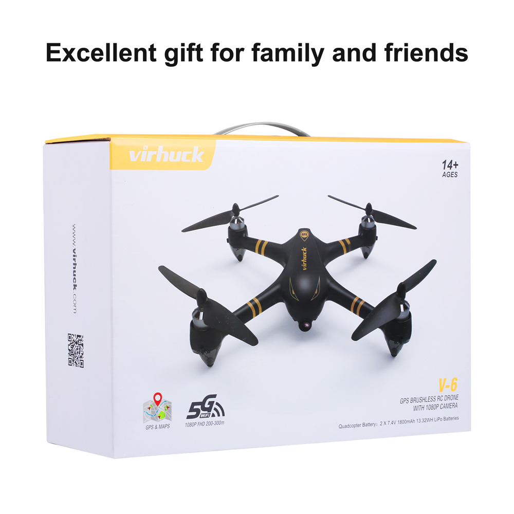 Virhuck V 6 Rc Drone With 1080p Camera 20070 Free Shipping Lipo Balance Charger Ac Input Us Products Classic Army Black