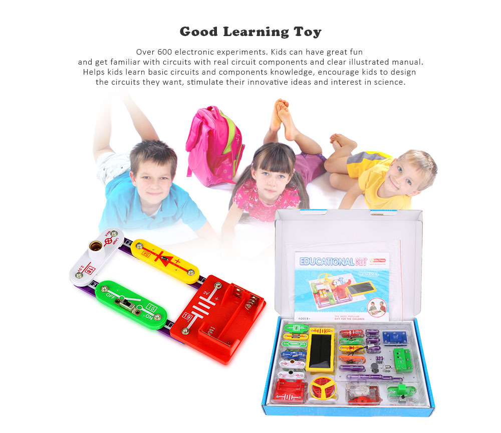Virhuck W 688 Funny Electronics Discovery Kit Science Educational Details About Circuit Starter Manual Toy Smart Diy Block