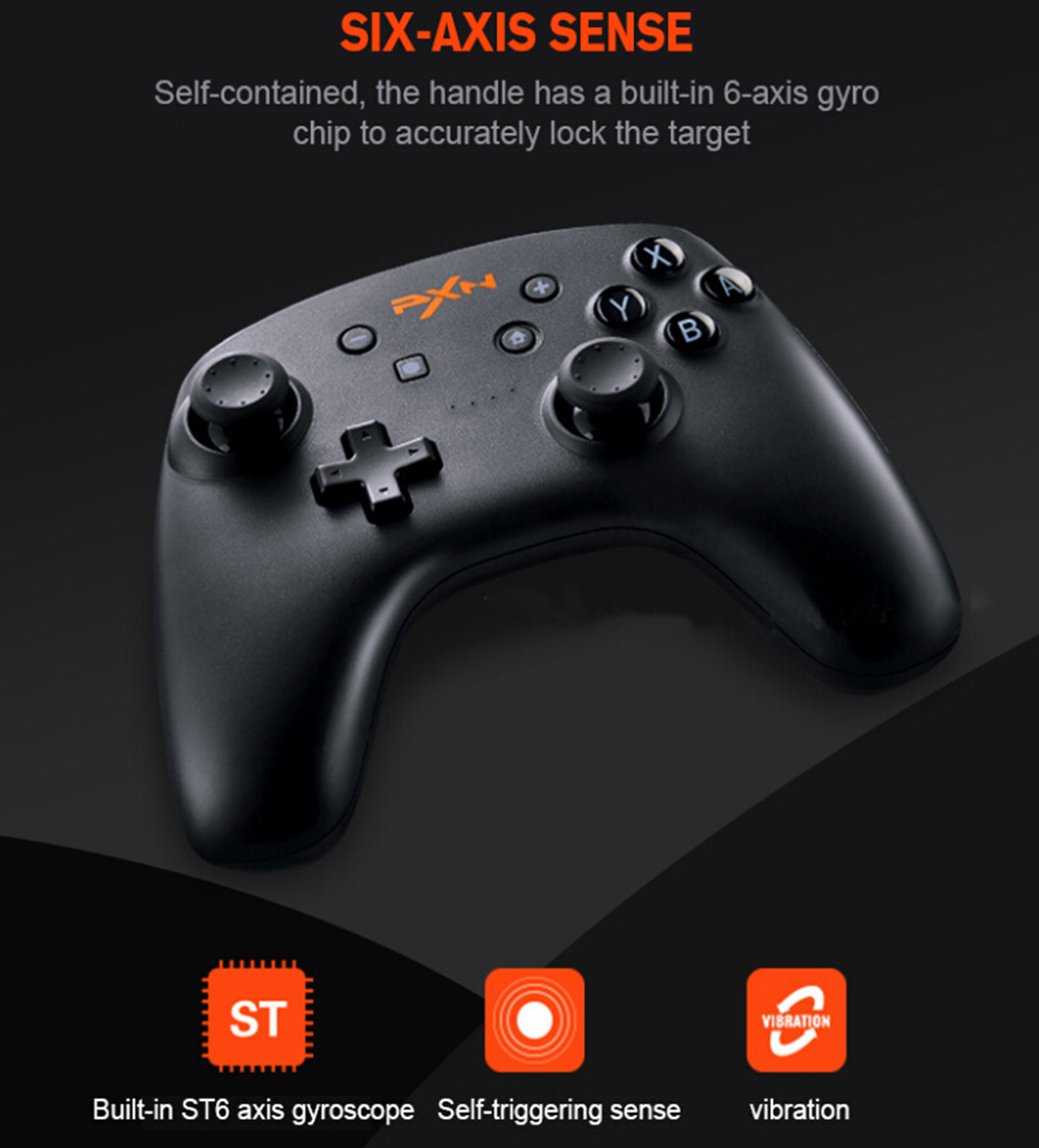 PXN Wireless Bluetooth Controller for Nintendo Switch / PC / Android  Built-in Li-ion Battery Support NFC Function Adjustable Vibration