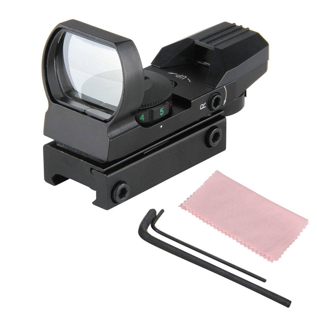 Dot Sight Scope HD101 Red Dot Sight Reflex Green Holographic Scope Tactical Rifle Mount 22mm Rails BLK Waterproof Shockproof