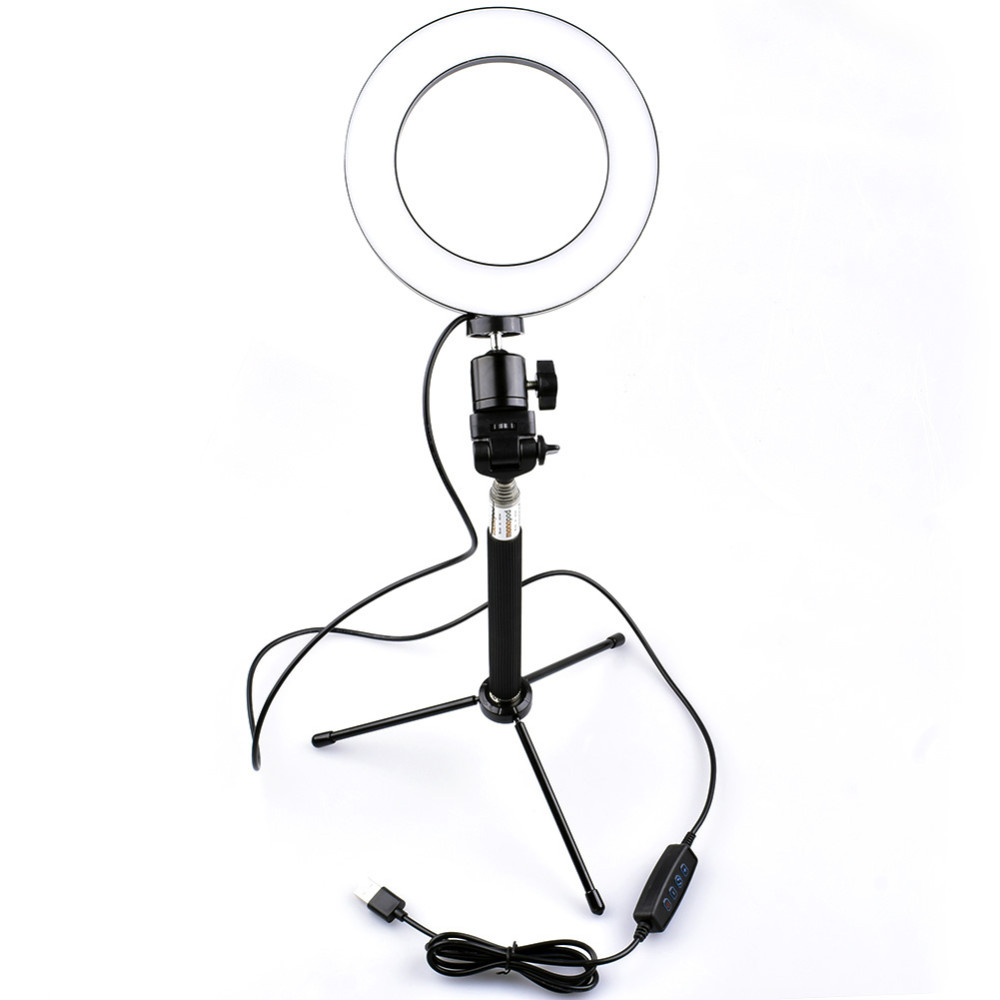 Mobile Phone Live Stand Fill Light Led Ring Fill Light with Tripod Photography Anchor Self-Timer//Multi-Function Lighting,G