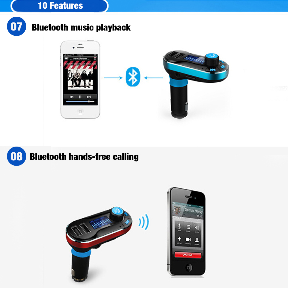 Wireless Bluetooth Plastic 3.1 Handsfree Car Kit Multipoint Speaker Phone USB Charger 20Hz-15Khz Black for Safely Driving