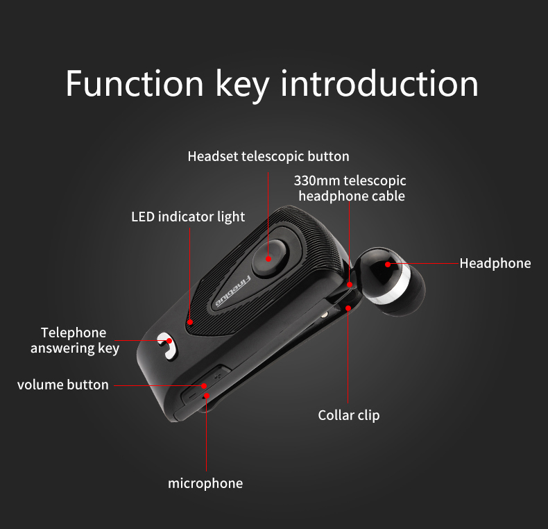 ASTROSOAR - Bluetooth Earphone - Fineblue F930 Wireless Business Bluetooth Headset