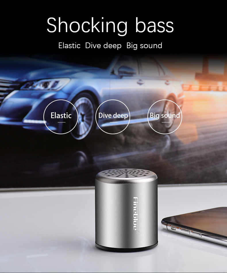 ASTROSOAR - Fineblue MK-10 Portable True Wireless Speaker With Mic Phone Calling HD Super Bass