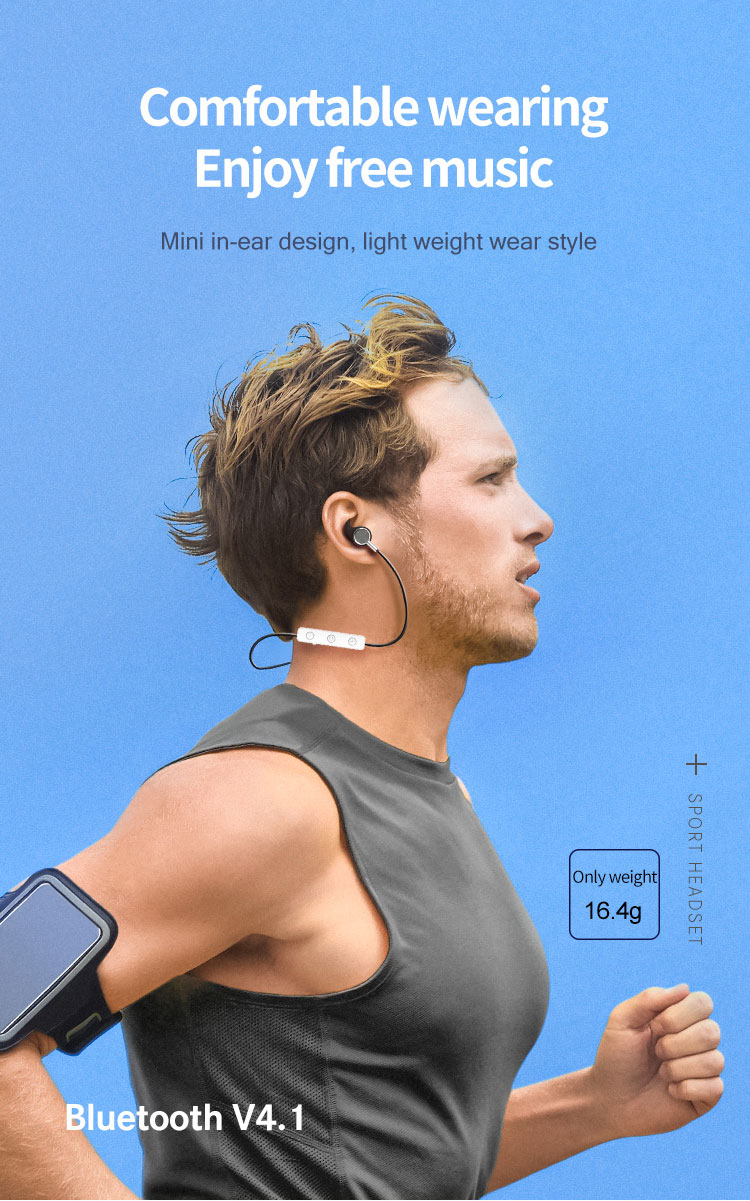 ASTROSOAR - FineBlue P20 Sport Neckband Headphones Bluetooth V4.1 Earphones For Running