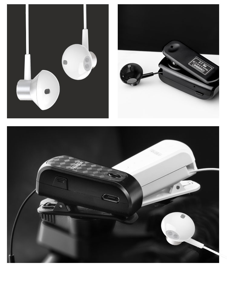 ASTROSOAR - Fineblue FQ-10 Pro Retractable Bluetooth V5.0 Earphones Collar Clip In-Ear style Headphone